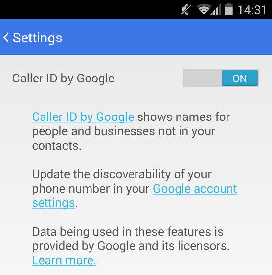 Google Caller ID