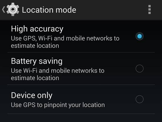 Location Battery Saving